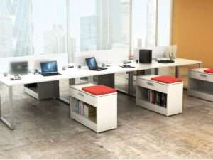 IOF 6-Pod with Credenza Benching