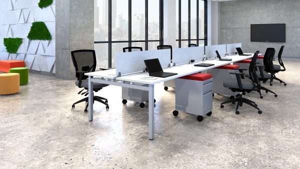Iconic Benching with Screens & Mobile Pedestals