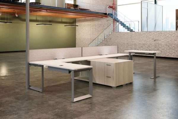 Scene 2-Pod with Credenza Benching